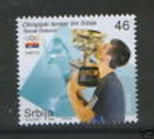 SERBIA-MNH-STAMP-SPORT-TENNIS-NOVAK DJOKOVIC-2008.