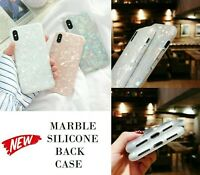 For iPhone 7,8 Plus,X XS Max XR Marble Shockproof Silicone Protective Case Cover