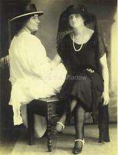 RPPC: Affectionate MIDDLE-AGED WOMAN and DAUGHTER in FASHIONABLE MOURNING ID'd