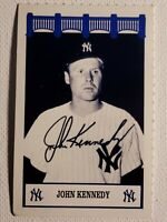 1992 The Wiz John Kennedy Yankees 60's Auto Autograph Signed 2x3 Card D-2018