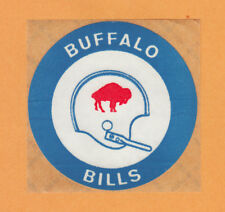 "1969 BUFFALO BILLS 3"" OLD 1 BAR HELMET KRAFT BACKED DECAL STICKER Unused"