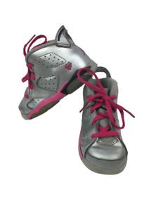 Nike Air Jordan 6 Retro Baby Toddler Size 7C Silver Pink Sneakers 384667-009
