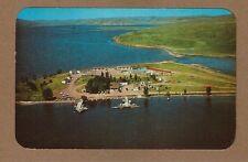 Buffalo,WY Wyoming Seney Point Resort, Lake De Smet, aerial panorama view 1961