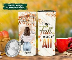 I Love Fall Most Of All Thanksgiving Anniversary Tumbler Gift For Her Besties