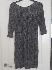 New Look Super Sparkley Black and Silver Dress / Tunic - Size 18