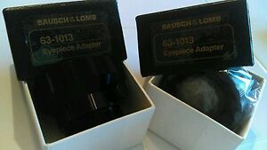 Two each, Bausch & Lomb Eyepiece Adapters 63-1013