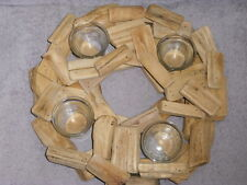 Gorgeous Driftwood Round Candle Holder - *Rustic Charm*