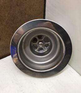 "Chrome 1 1/2"" Waste Large Hole Sink Kitchen No Plug Diameter 115mm - 4 1/2"""