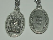 "Our Lady of Walsingham Holy Medal on 24"" Steel Chain 11th C. Marian Apparition"