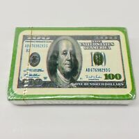 Money Novelty Deck Of Playing Cards $100 Bill Benjamin Franklin - NEW