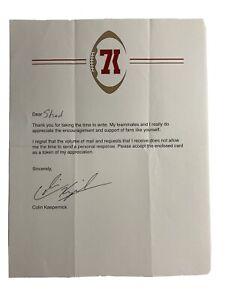 COLIN KAEPERNICK SIGNED SAN FRANCISCO 49ers Letterhead Paper Rare (READ) (FAKE)