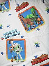 Disney Pixar Original Toy Story Full Size Bed Flat Sheet Buzz, Woody, Bullseye