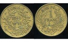 TUNISIA   1  franc  1945  ( etat )