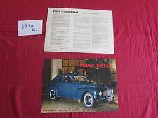 N°4210 bis /  prospectus VOLVO P 444 spéciale   texte français 1956