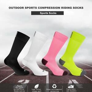 Outdoor Sports Compression Riding Socks Women Men Cycling Calf Length Socks