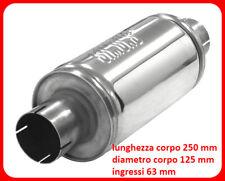 Silenziatore Scarico in acciaio inox universale per x auto racing sportivo 63 mm