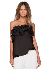 ANTHROPOLOGIE NASTY GAL C/MEO CAMEO STRAPLESS CLUB Bustier Top Size  M Black