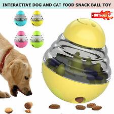 Pet Dog Cat Food Toy Dispenser Interactive Tumbler Puzzle Treat Ball Feeder UK,