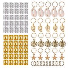 80Pcs Decorations Pendants Dreadlocks Beads Metal Cuffs Hair Rings Clips UP
