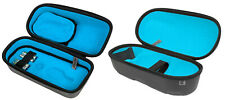 Exalt Le Carbon Paintball Loader and Tank Case Charcoal Cyan Microfiber