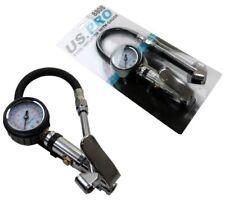 US PRO AIR LINE TYRE INFLATOR & PRESSURE GAUGE 0 / 220 psi airline tool