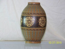 Charles Catteau Art Deco Boch Freres Gres Keramis Hand Painted Vase