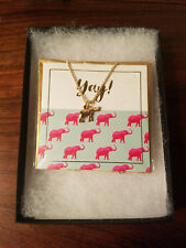 Foxy of Canada Elephant Necklace Org. $30. @ South Moon Under w/ Box (NEW)