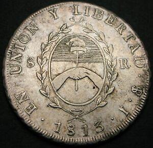ARGENTINA (Provincias del Rio del Plata) 8 Reales 1813 PTS J - XF - 1930 *