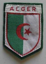 Ancien Ecusson brodé à coudre - Algérie : Alger