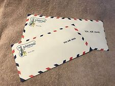 El Rancho Vegas Windmill Two Air Mail Envelopes 1960 Las Vegas Nevada