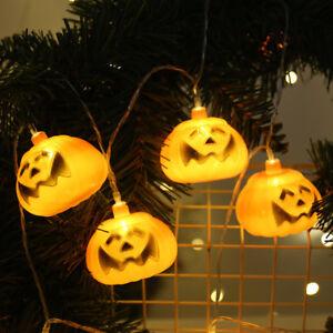 USB LED Pumpkin Shaped Lantern String Warmth Lights Halloween Party Room Decor