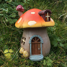 Small Garden Mushroom House for Fairies Pixies Gnomes & Outdoor Fun LED 39198