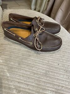 Timberland Deck Shoes Size 11 Men's Genuine Very Good Condition Brown