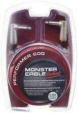 "Monster Performer 600 Instrument Cable - 8"" Angle-Angle"
