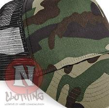 Camouflage trucker baseball cap half mesh jungle urban camo retro army style