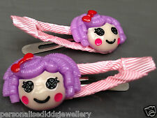 Girls Hair Clip LALALOOPSY pillow (2x snap hairclip) Peppa Pig Elmo Party Favour