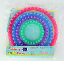 Circular Knitting Loom 4 Piece Set - Make Beanies Extra Thick Scarves Bags etc