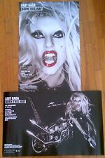 Lady GaGa Rare Official BORN THIS WAY 2 Sided promo poster 14x22