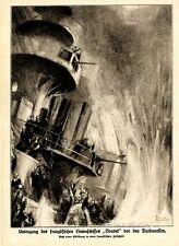 Untergang des französischen Linienschiffes Bouvet vor den Dardanellen 1915