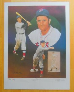 Bobby Doerr Boston Red Sox Auto litho by Christopher Paluso 1989 L/N 150/500