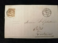 Schweiz - Brief Stück Stempel 1877 Dombresson Sitzende Helvetia 5 C     Nr.1