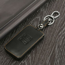Black Car Leather Key Holder Remote Cover Case For Renault Kadjar 2016 Keychain