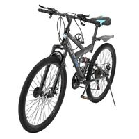 "21 Speed MTB 26"" Full Suspension Mountain Bike Bicycle Cycling Disc Brakes"