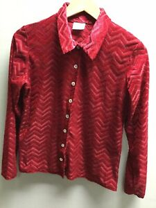 Women's Red Zig Zag Patterned Vintage New Look UK M 90's