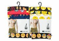 MENS EMOJI BOXER SHORTS 6 Prs FACES CHARACTER COTTON RICH UNDERWEAR S-XL