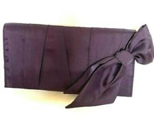 Estee Lauder Makeup Cosmetic Clutch Bag Travel Pouch with Bow ~ Dark Purple