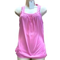 TED BAKER Size 2 3 4 UK 10 12 14 Pink Top Sports Vest loose fit