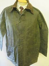 "Barbour A200 Border Waxed jacket - L 42"" Euro 52 in Sage"