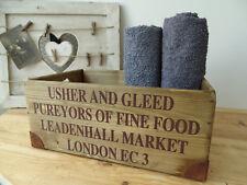 Nr.C11A Vintage Caisse ~ Leadenhall Market Londres~ Boîte en Bois ~ Shabby Chic