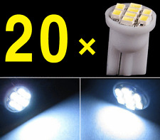 20 X Car White T10 LED 8smd Side Wedge Light Bulb W5W 194 168 2825 501 192 158